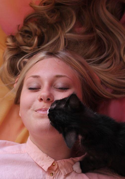 Cat and her pet parent