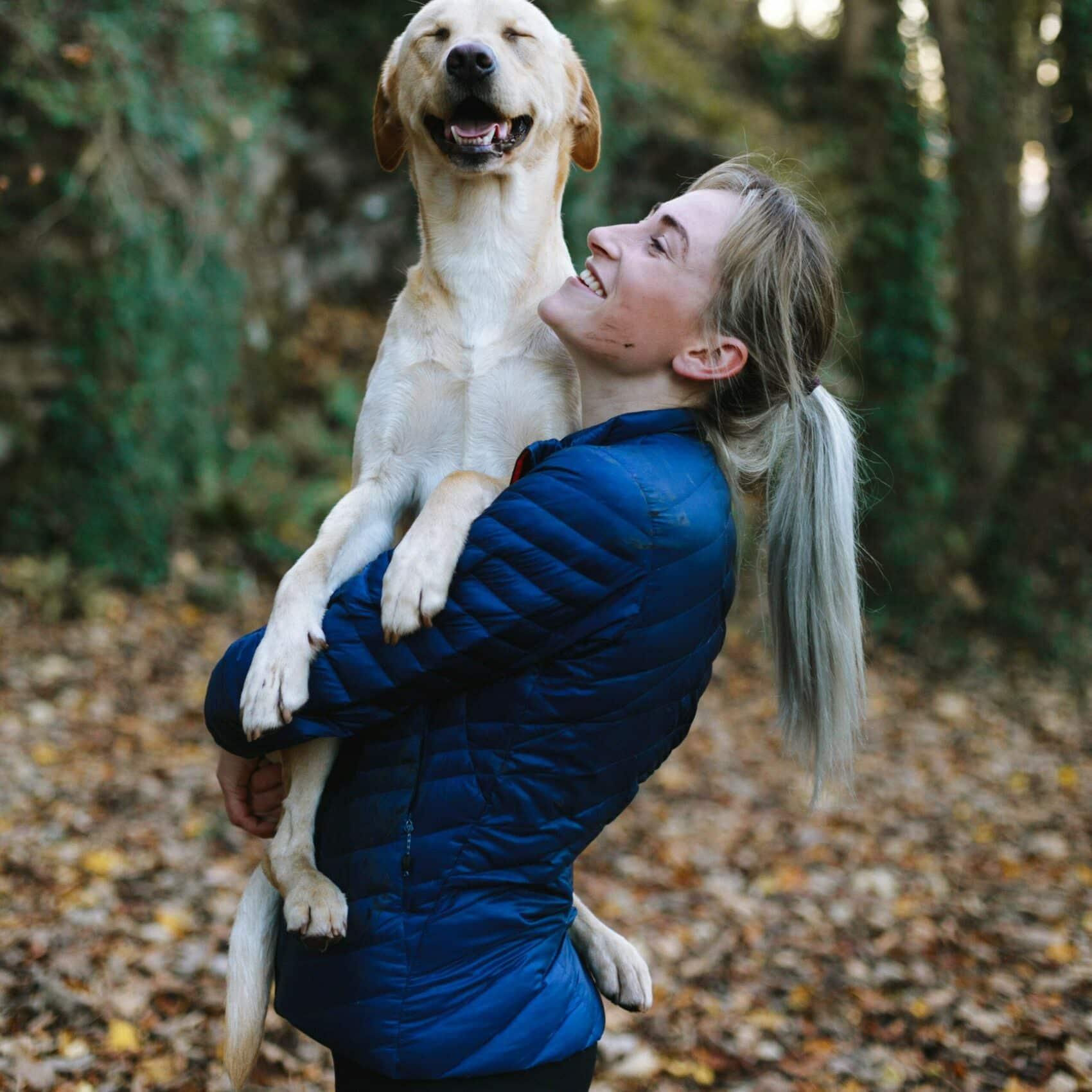 Lifting a dog